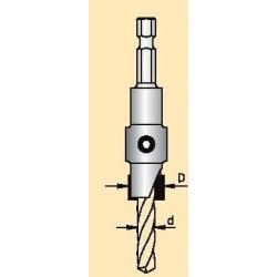 Grąžtas/zenkuotė 5,0x14 mm d-6.35 mm AS45014D