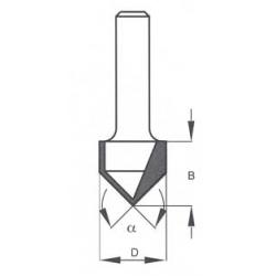 """90"""" D-19,1 mm B-16,0 mm d-8 mm D1050165"""