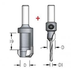 Komplektas: grąžtas/zenkuotė 5 mm ir grąžtas kamštukui 10 mm