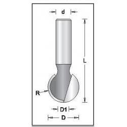 D-25,4 mm R-12,7 mm L-70,0 mm d-12
