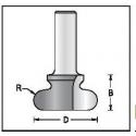 Baldinė rankenėlė R-6' D-38.1 D1-18,0 mm mm B-21,0 mm B1-18,0 mm d-12 mm D1480319