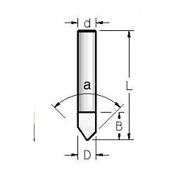 """90"""" D-6,0 B-9,5 L-38 mm Pilno kietlydinio"""