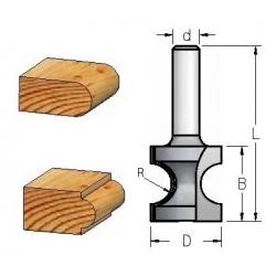 R-3.6 mm D-16.7 mm B-19.0 mm d-8