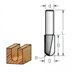 R-1,6 mm D-3,2 mm B-9.5 mm d-8