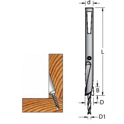 Grąžtas/zenkuotė 3,45x9,5x101 d-9 ACF0950S