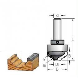 Profilinė griovelio freza su guoliu viršuje