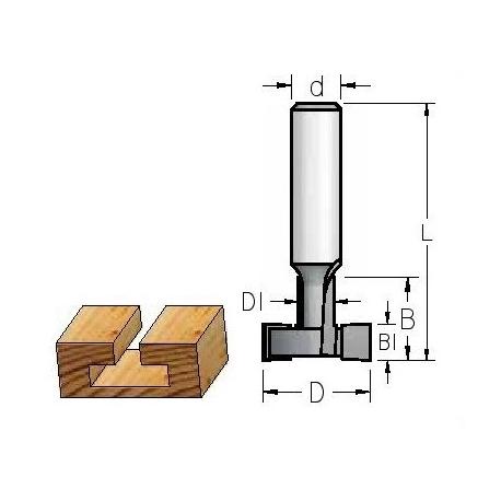 T profilio įpjovai 29x12,7x10 mm d-12 mm MM29192