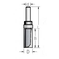 Sulyginimo pagal šabloną freza 16 mm HPF4165