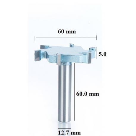 6 dantukų diskinė lyginimo freza D-60 mm B- 5.0 mm d-12.7 mm