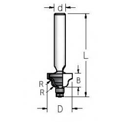"""Spindulinė freza R 2,4"""" 14,3x8x47 mm RD00253"""