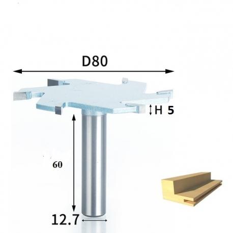 6 dantukų diskinė lyginimo freza D-80 mm B- 5.0 mm d-12.7 mm