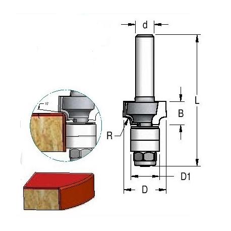 """R 2,0"""" D-18 mm d-8 mm RWB0205"""