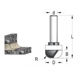 D-28.6 mm R- 10 mm B-13 mm L 73 mm d-12 mm