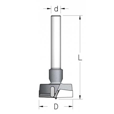Grąžtas 40 mm