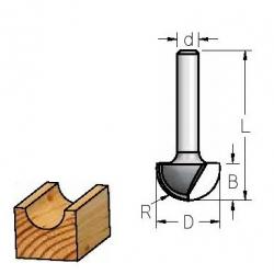 R-6.3'' D-12.7 mm B-9 mm d-1/4