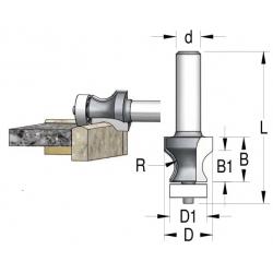 R-8 D-25/19 mm B-23/16 mm L 77 mm