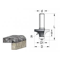 R-6.3 D-25.4/12.7 mm B-11 mm z-2 L 61 mm
