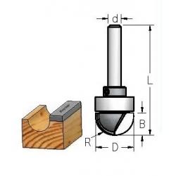 D-19,0 mm B-11.0 mm R-9.5 mm d-12
