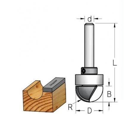 D-16,0 mm R-8.0 mm B-9.5 mm d-6 mm