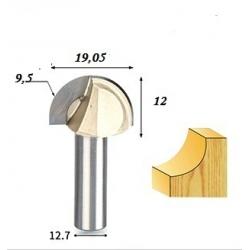 R-9,5 mm D-19,05 mm B-12 mm d-12.7 mm