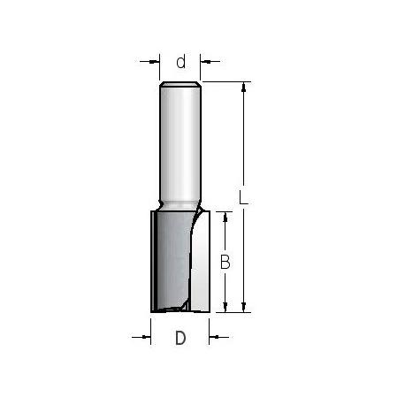 D 12,7 mm B 51 mm l 108 mm d 12 mm