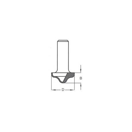 Griovelis 27x12 profilinis d-8 mm RRC2705