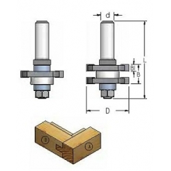 Baldinių durelių freza d-8 mm RG60005