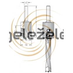 Gręžimo gylio fiksatorius 3-7 mm grąžtams
