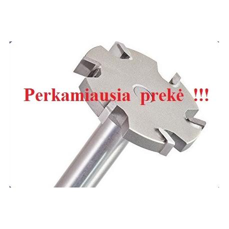 6 dantukų diskinė lyginimo freza D-52 mm B-6,5 mm d-12 mm
