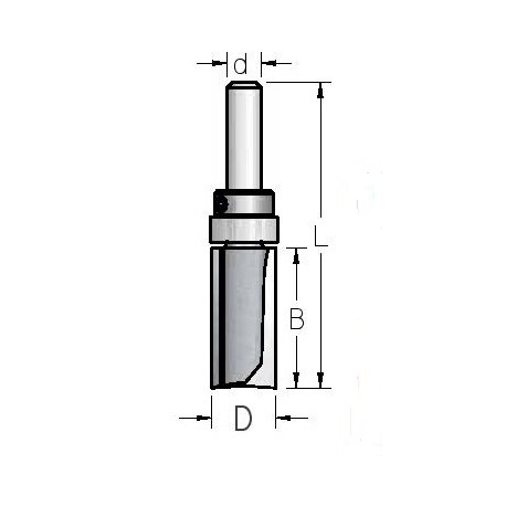 D-25.4 mm B-45,.0 mm d-12.0 mm