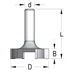4 dantukų diskinė lyginimo freza