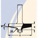 Freza filingui D-61,0 mm B-14,0 mm A-24,0 mm d-12 mm