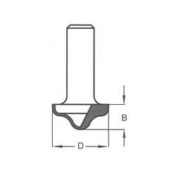Griovelis 27x12 profilinis d-12 mm RRC2702