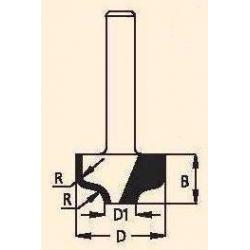 Profilinė griovelio freza RA